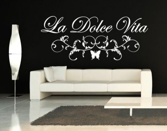 La Dolce Vita Quote Decal, Wall Sticker.Live The Sweet Life By Decorating  Your