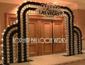 Las Vegas tema entrada decoração