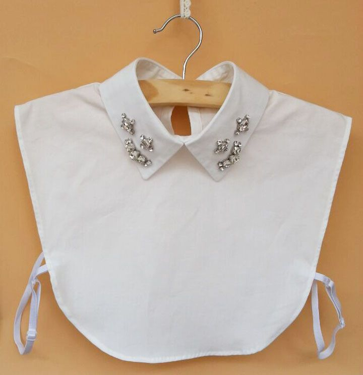 New autumn white detachable collar women false shirt collar ...