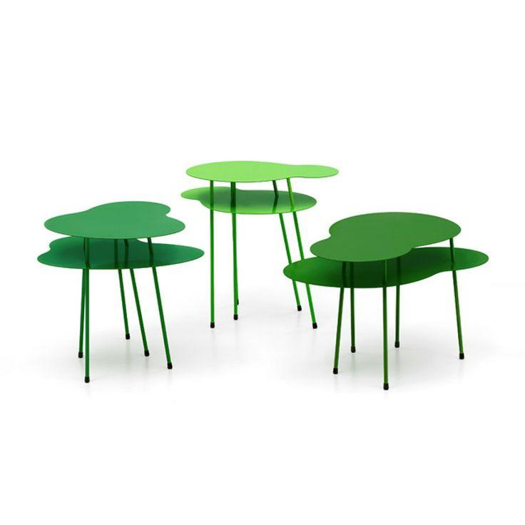 Amazonas - tre bord i olika gröna nyanser