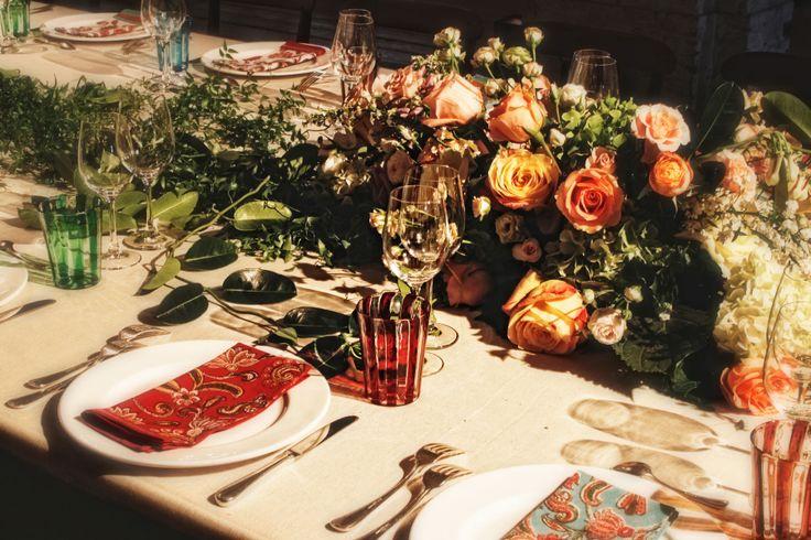 Table setting creation for a wedding. #tablesetting, #flower, #decor, #venice, #venezia, #miseenplace, #murano, #glass, #corvino Matteo Corvino Designer