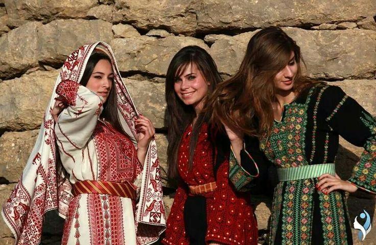 traditional dress. palestine