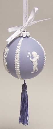 Cameo-Relief Blue - With Box in the Jasperware Ball Ornaments pattern by Wedgwood China: