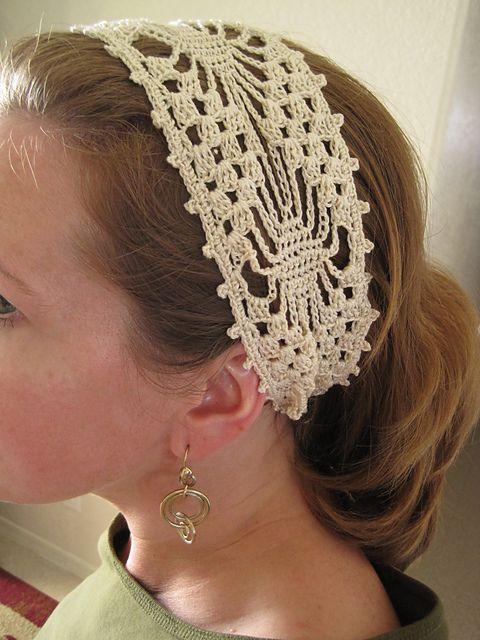Ravelry: Spider-Lace Wide Headband free pattern by Lara Sue