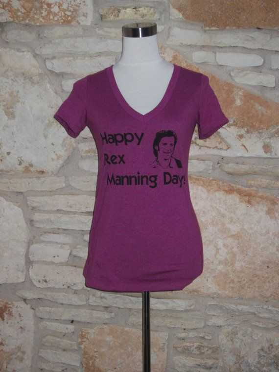 REx Manning Day V neck Women's Screenprinted by CraftsbyCasaverde