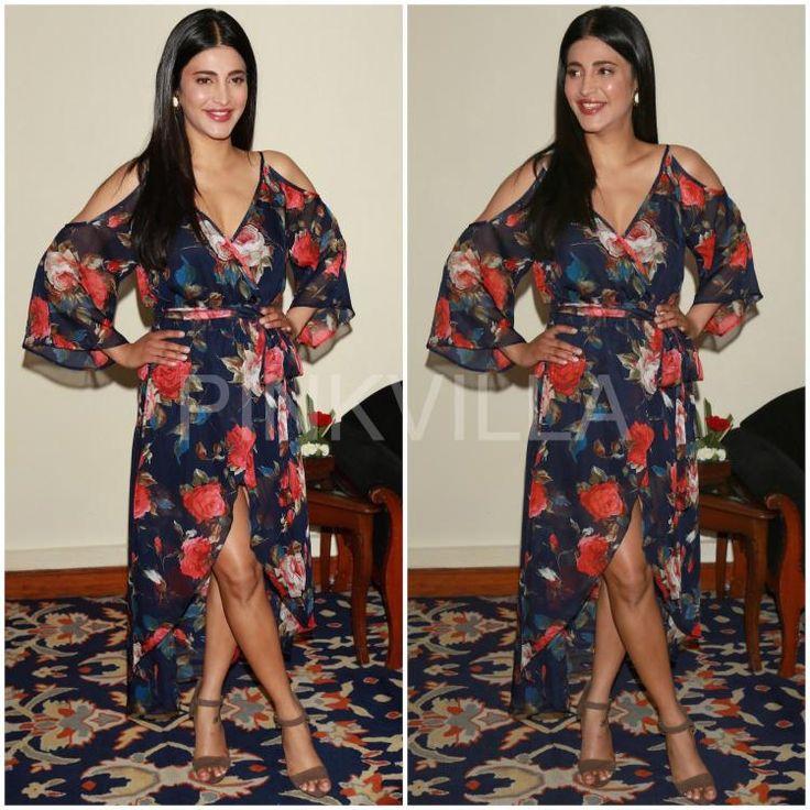 f5b3af458cd Yay or Nay   Shruti Haasan in SR Store. Shruti HasanBlack Floral DressesBollywood  ...