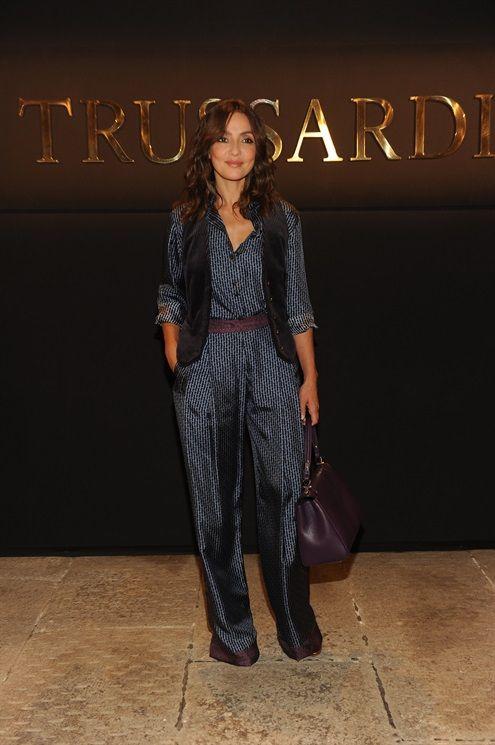 AMBRA ANGIOLINI - Trussardi SS17 Front Row: Settimana della Moda di Milano, le star - Vogue.it
