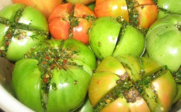 зеленые маринованные помидоры без стерилизации