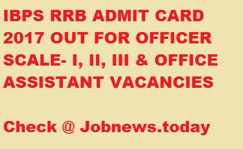 IBPS RRB Admit Card 2017 Download | IBPS Interview Call letter for Regional Rural Banks Various Post @ ibps.in #governmentjobsindia #employmentnews #india #indiajobs