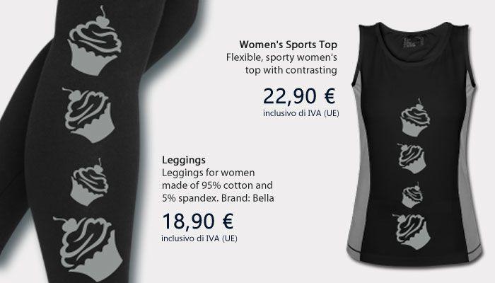 Leggings - Women's Sports Top http://miintorto.spreadshirt.it/