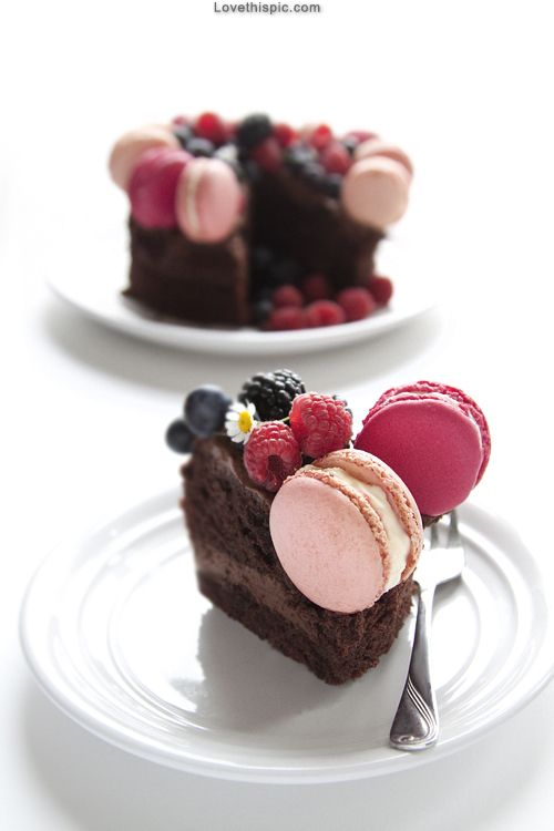 Chocolate Dessert cute food sweet cake chocolate delicious blueberries raspberries