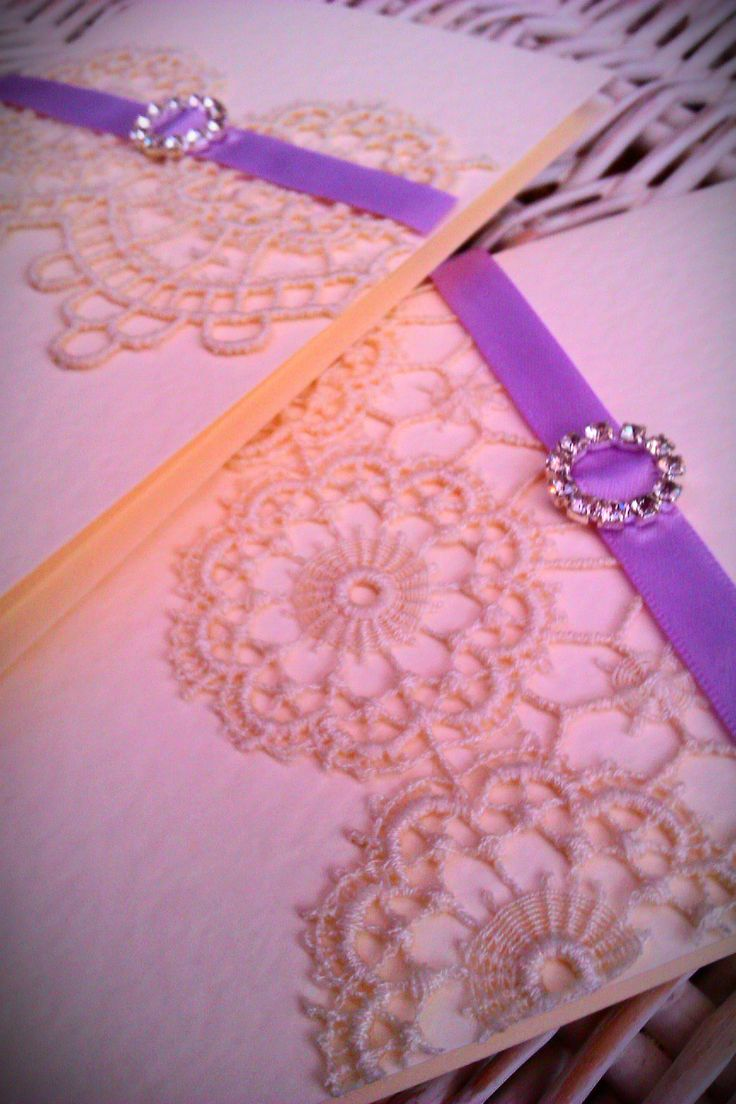Beautiful vintage lace invitations