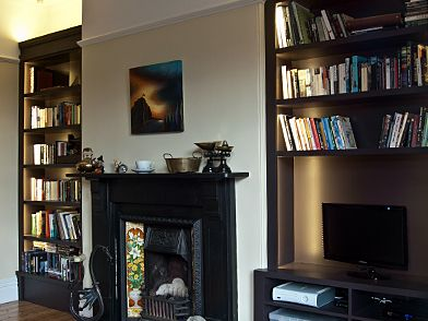 Alcove furniture with LED side lights, by www.matthewmccrossan.co.uk