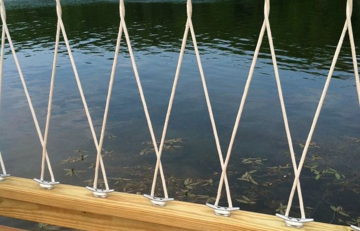 Docks With Rope Railings Search Garden Deck Hand Railing ...