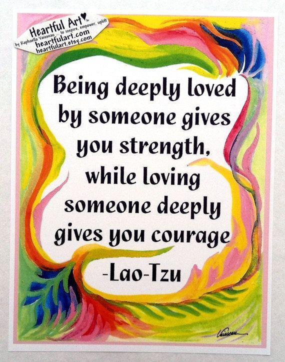 BEING DEEPLY LOVED Lao Tzu Wedding Gift by #Heartfulart #raphaellavaisseau #lao_tzu #lao_tsu #quote #blessing #affirmation #etsy #etsy shop #etsyartist #spiritual #meditation #anniversary #appreciation #love