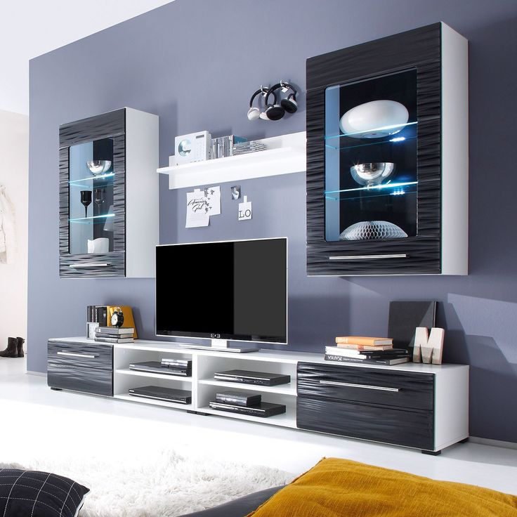 Die besten 25+ Tv möbel schwarz hochglanz Ideen auf Pinterest - wohnzimmer wohnwand weiß