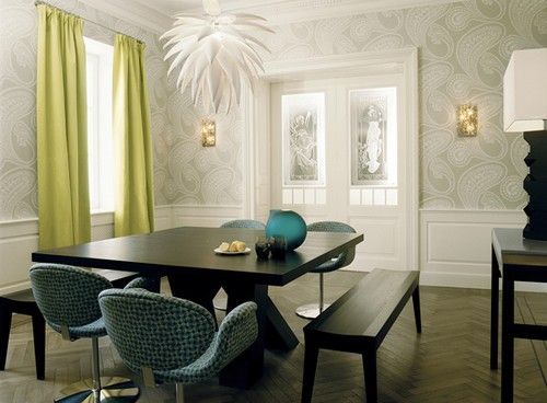 56 Best Dining Room Wallpapers Images On Pinterest