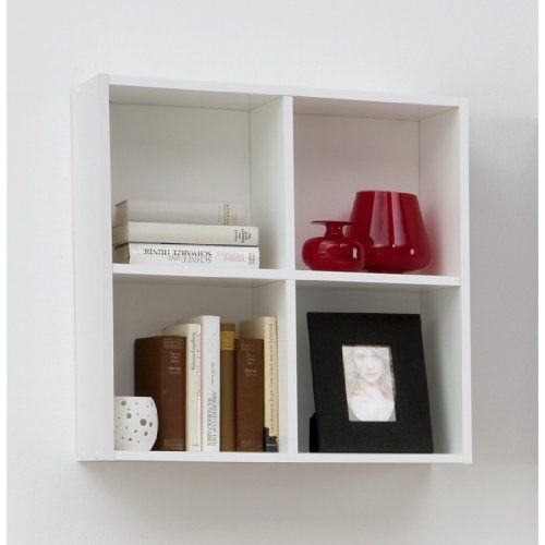 £19.97 BARI Four Compartment Wall Mounted Shelf Unit For