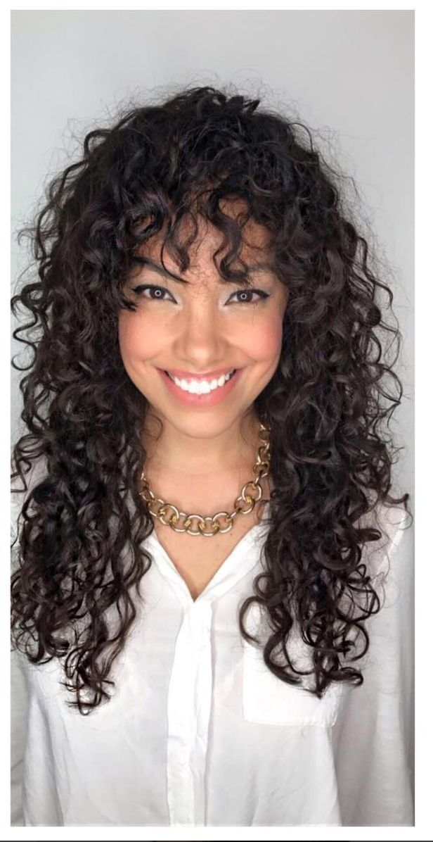 Best 25 Bangs Curly Hair Ideas On Pinterest Fringe And