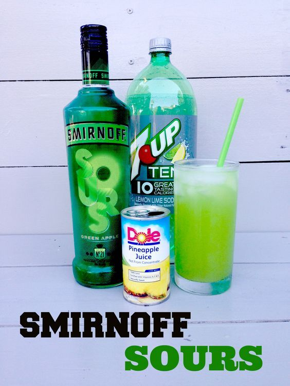 Smirnoff sours green apple vodka recipe links to other for Mixed alcoholic drinks list