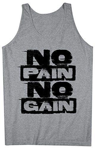Men's Workout Tank Top No Pain No Gain Gym Tanks