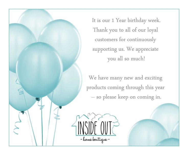 It is our 1 Year birthday week. Thank you to all of our loyal customers for continuously supporting us. We appreciate you all so much! We have many new and exciting products coming through this year – so please keep on coming in.