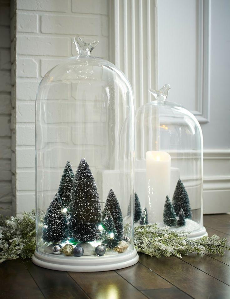 1085 besten weihnachtsdeko bilder auf pinterest familien - Glasglocke dekorieren ...