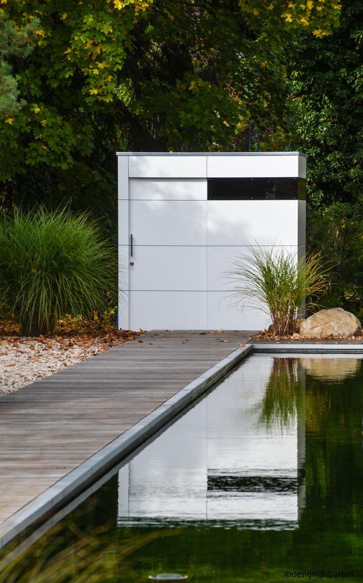 Elegant  modernes gartenhaus atgart zwei in M nchen by design garten Gartenhaus HPL Ger tehaus design gartenhaus Pinterest Design gartenhaus