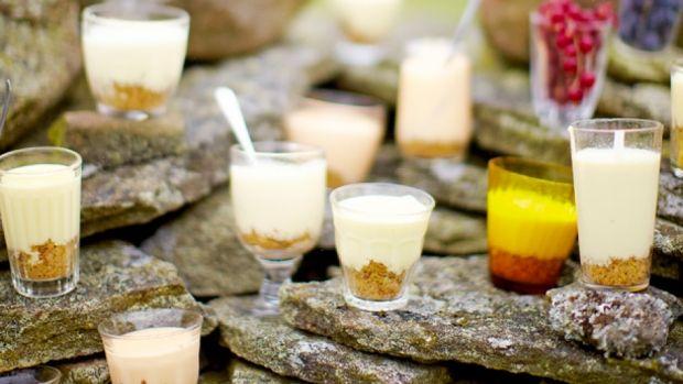 Jamie Olivers opskrifter | Citroncreme på cheesecake-bund