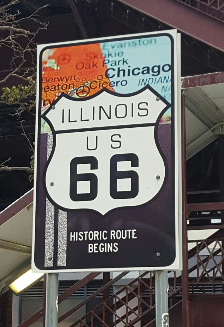 Illinois US 66. Historic Route 66. Adams St. Chicago IL