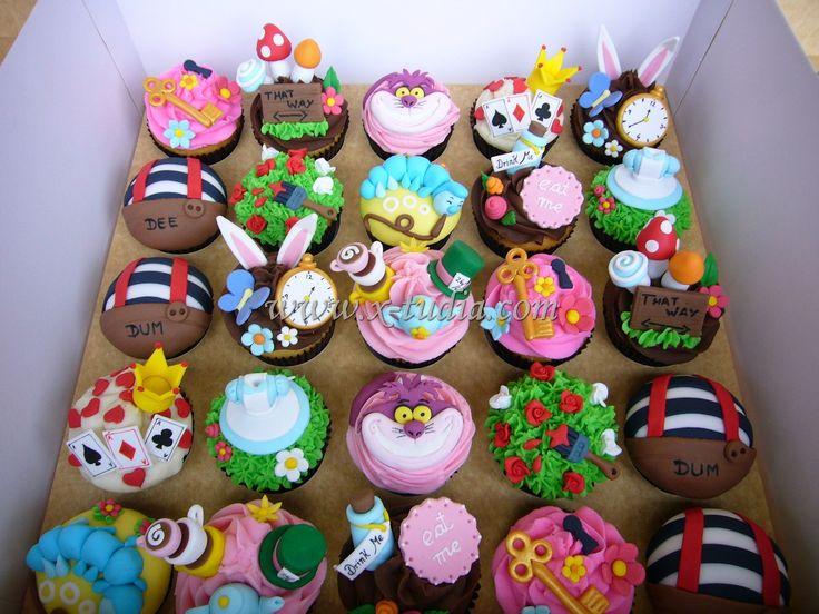 Cupcakes Alicia en el pais de las maravillas