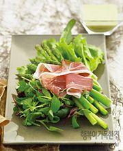행복이가득한집 Design your lifestyle [햄&소시지 3] 그린 드레싱을 곁들인 햄과 아스파라거스 샐러드