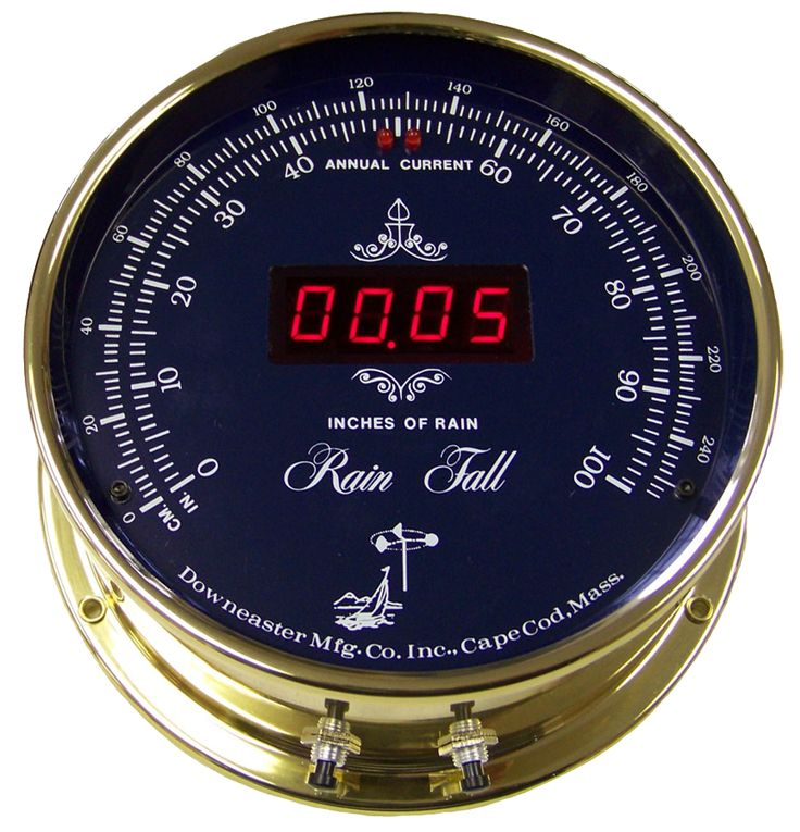 Downeaster Rain Fall Gauge, Blue Face Available now at the best price only at www.everythingnautical.com  #Nautical #Home #Decor #Gifts