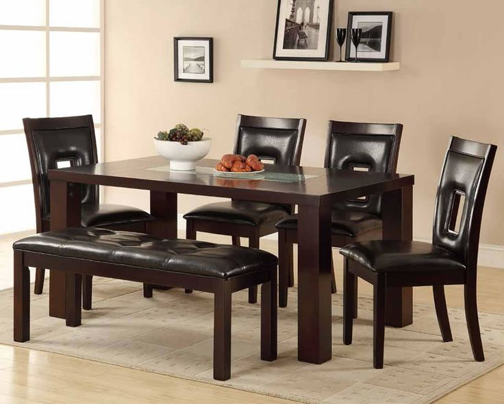 Chicago Dining Set With Bench And Using Contemporary Style