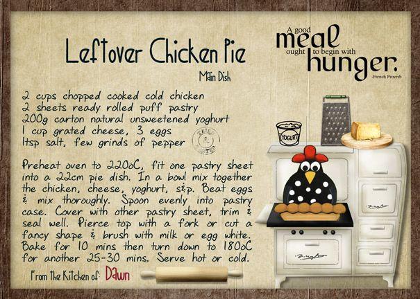 Leftover Chicken Pie