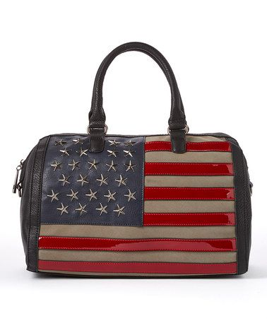 Another great find on #zulily! Black American Flag Satchel by MKF Collection #zulilyfinds