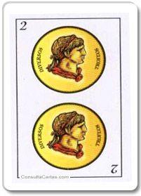 Baraja española: Dos de Oros Significado de la carta