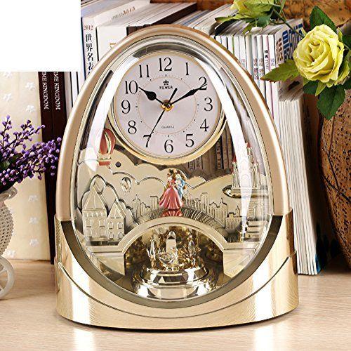 technology transfer table clock/ fashion creative clock/Silent music chiming clock/ home decor clocks/ art clock table-B