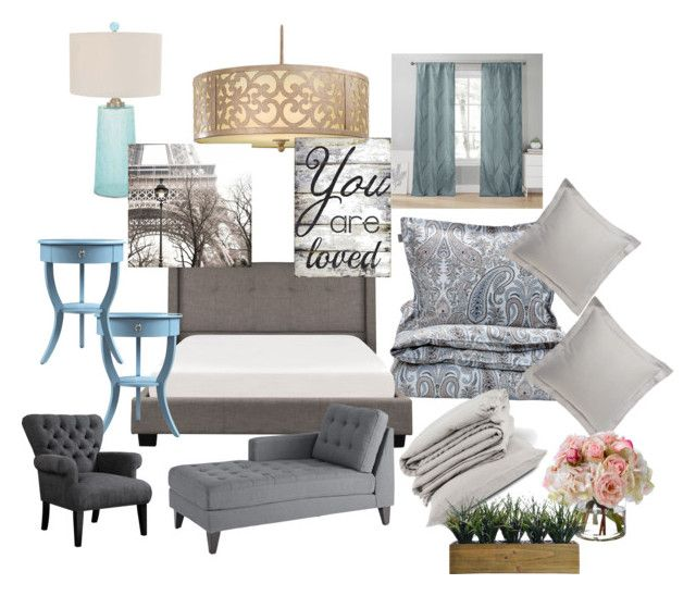"""Bedroom"" by melinda-elizabeth on Polyvore featuring interior, interiors, interior design, home, home decor, interior decorating, Minka-Lavery, GANT, Anali and Pier 1 Imports"