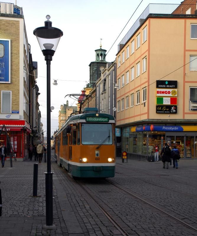 This is a tram in Norrkoping, located on the swedish east coast, about 150 miles south of Stockholm | Photo by Chris Sprucefield (#sprucefield) with Pin-It-Button on http://www.trekearth.com/gallery/Europe/Sweden/Gotaland/Ostergotland/Norrkoping/photo282933.htm