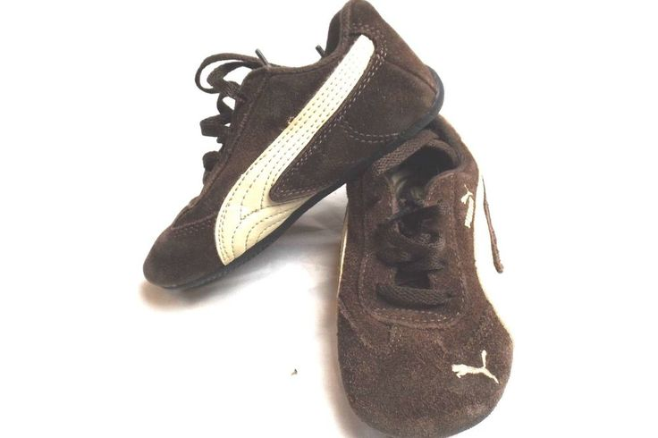 Puma Sued Dark Brown Flat Tennis Shoes Toddler Size 9 GUC #Puma #Athletic