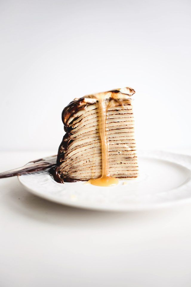 How to Make an Easy Dark Chocolate and Caramel Crepe Cake | eHow