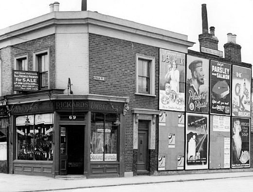 69 Roman Road, corner of Vivian Road, Bow, 1937