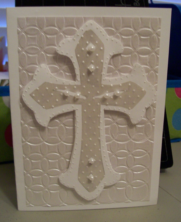 white-on-white cross card