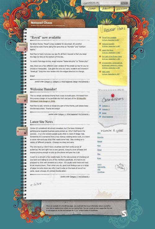 notebook design Website Design Ideas Pinterest – Notepad Template for Word