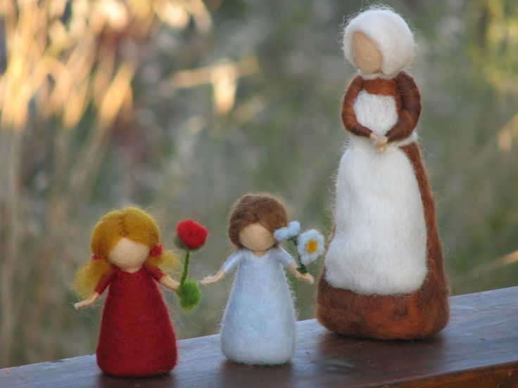 Needle Felted Root children - Sibylle von Olfers Inspired