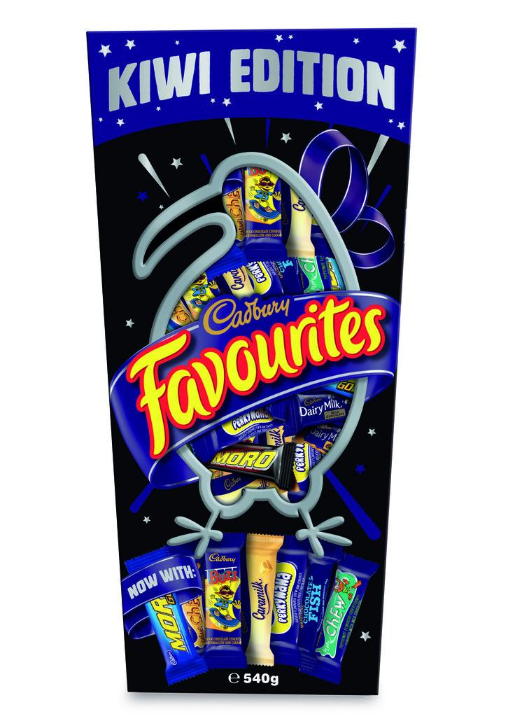 Cadbury Favourites! Kiwi Edition with 12 different favourites.