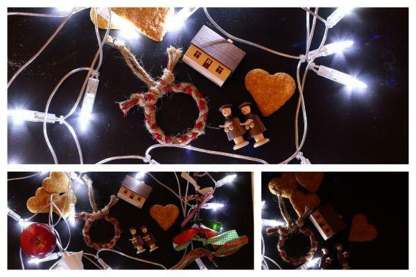 Egyszerű karácsonyfa dísz zsinegből - Masni / Easy christmas ornament made of rope and ribbon