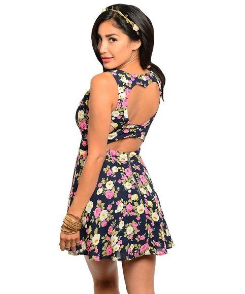 P.S. I Love You More Boutique | Floral Heart Back Dress | Summer Fashion 2014 www.psiloveyoumoreboutique.com