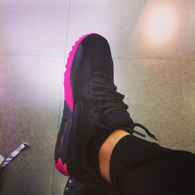 Hot Pink and Black Nikes